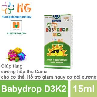 Baby Drop D3K2 - Giúp tăng cường hấp thu Canxi cho cơ thể. Hỗ trợ giảm nguy cơ còi xương ở trẻ (Lọ 15ml) thumbnail