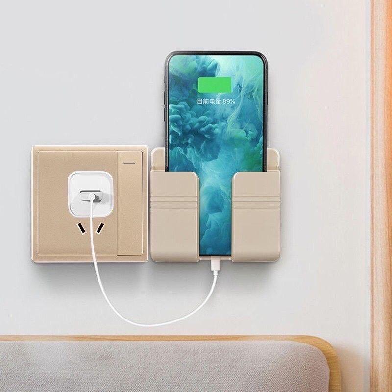 Kệ sạc điện thoại dán tường đa năng