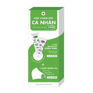 [HB Gift] Hộp Chăm Sóc Cá Nhân (1 Gel rửa tay diệt khuẩn Kleen 40ml 1 Khẩu trang kháng khuẩn Palvin)