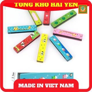 [Kích Thích] Kèn Hacmonica gỗ 16 lỗ cho trẻ em giúp các bé phát triển trí thông minh, khả năng sáng tạo của mình