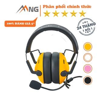 Tai nghe chụp tai chơi game có dây Edra EH492 dành cho game thủ,có micro, màu đen, trắng, hồng, vàng thumbnail