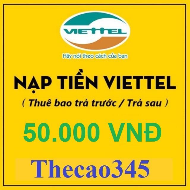 Thẻ cào viettel 50k rẻ vô địch