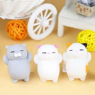 Cute Cartoon Cat Squishy Toy Stress-Relief Soft Squeeze Toy Decompression Toy