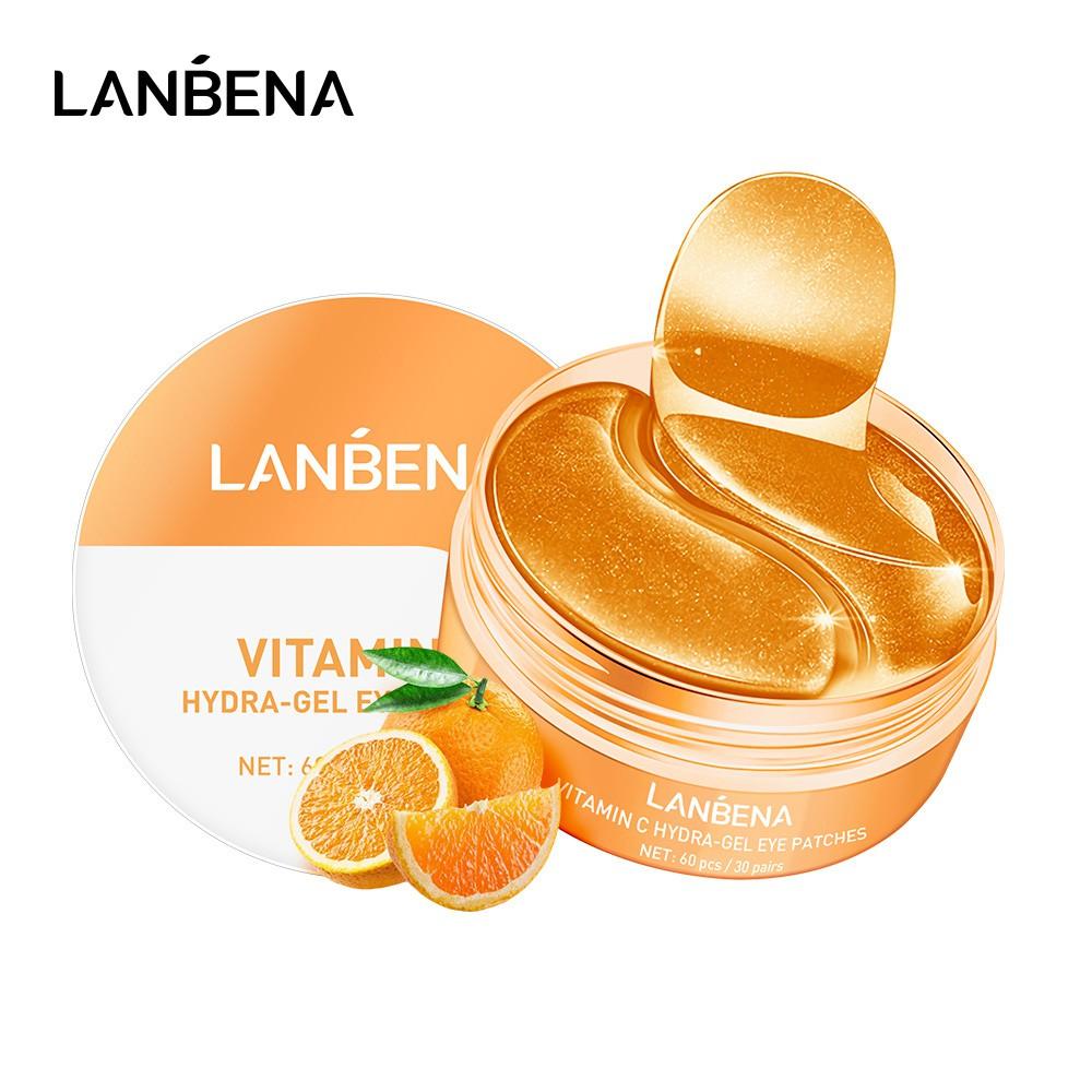 Mặt nạ mắt LANBENA hygra gel chứa vitamin C và colagen giúp dưỡng ẩm làm sáng quầng thâm và ngăn ngừa nếp nhăn 60 cái