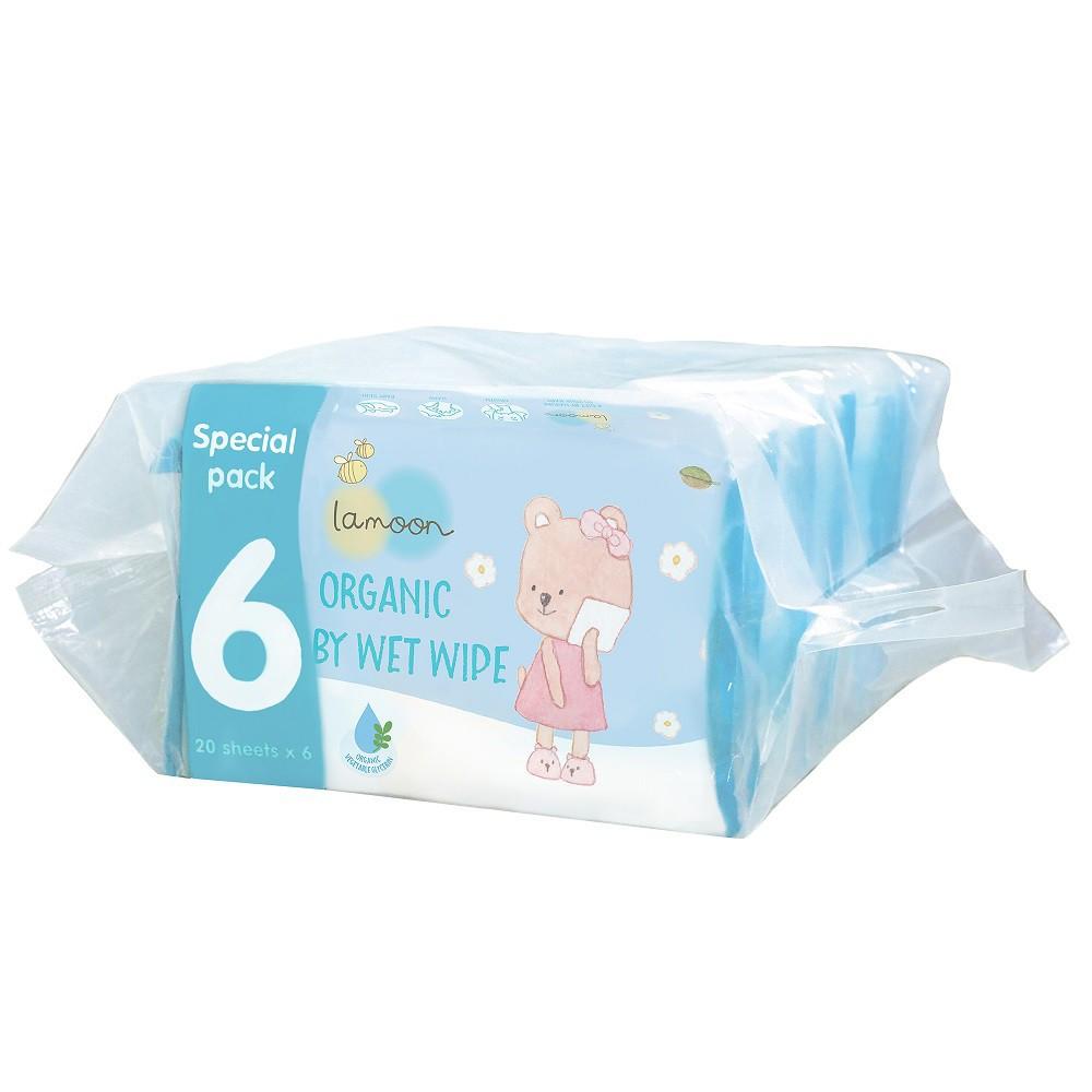 Combo 6 bịch khăn ướt du lịch Organic cho bé...