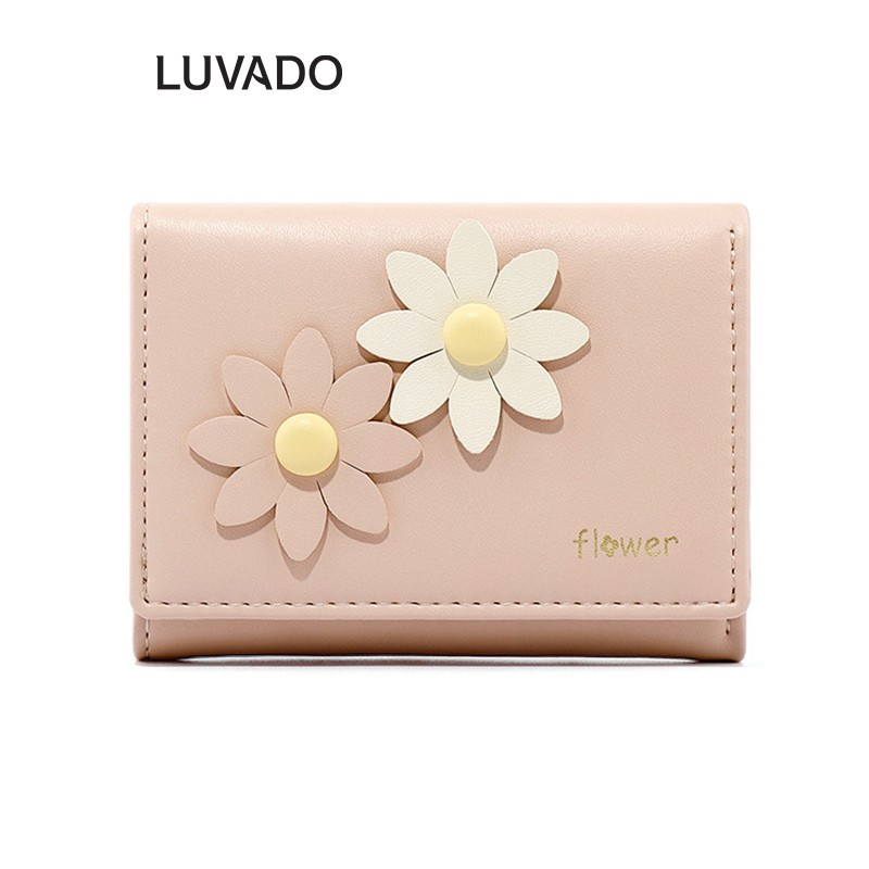 Ví nữ cầm tay mini ngắn cute dễ thương TAOMICMIC nhỏ gọn bỏ túi nhiều ngăn cao cấP LUVADO VD406