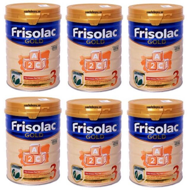 Combo 6 lon sữa frisolac gold 3 900g