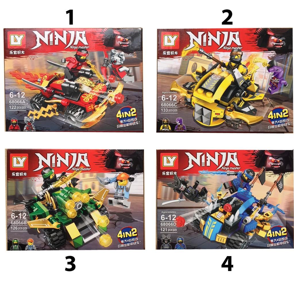Lego xếp hình Ninja 121 - 133 pcs (có 4 mẫu )