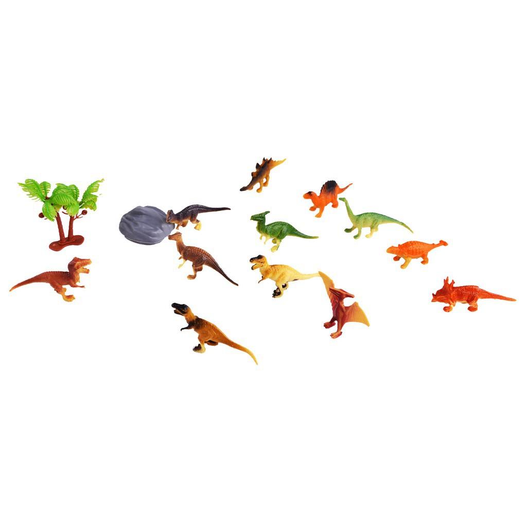 12pcs Mini Dinosaur Figure Toys Kids Educational Toy