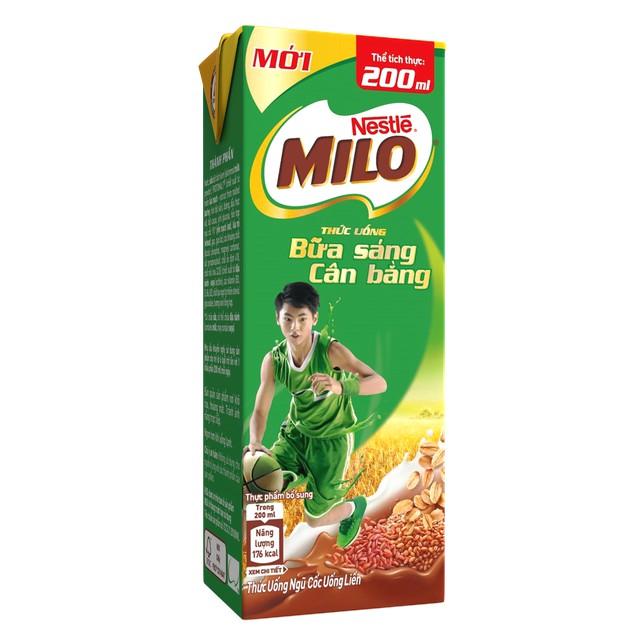 Hình ảnh Thùng 30 hộp sữa ngũ cốc Nestle Milo 200ml-2