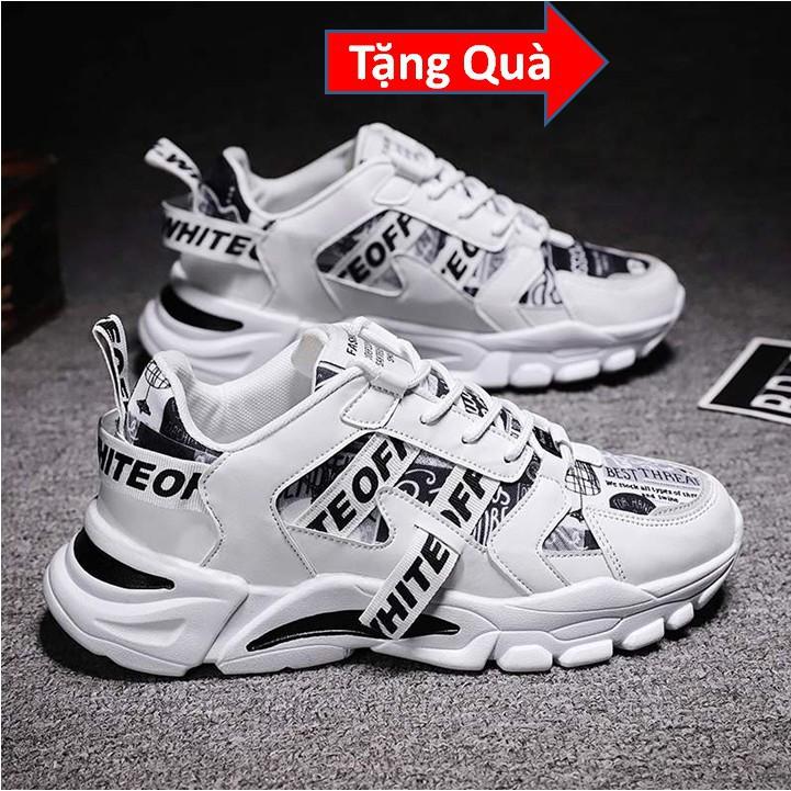 Giày Sneaker Nam Đế Cao Su Non, Giày Nam trend 2021 - Tăng Chiều Cao Tự Nhiên