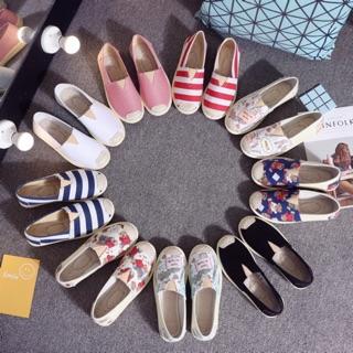 Giày vải slip on nhiều mẫu