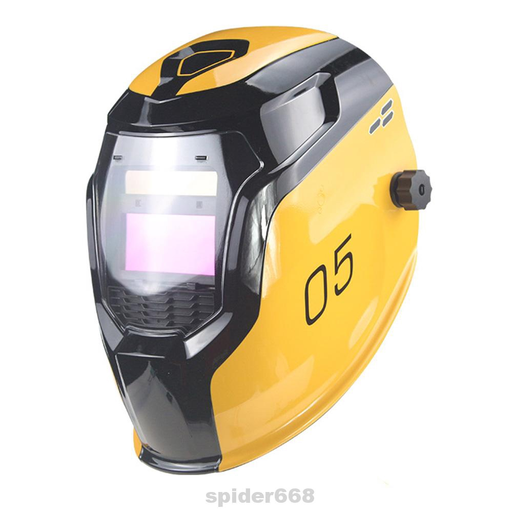 Adjustable Automatic Changing Light Dustproof Face Protection LCD Display Shockproof Professional Welding Helmet