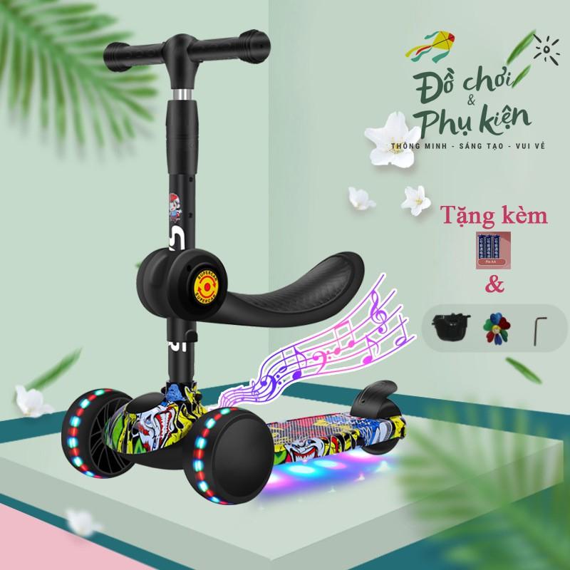 Xe trượt scooter cao cấp GRAFFITI 2 trong 1 cho bé 2-14 tuổi