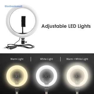 Vòng Đèn Led Điện Tử Mall01 10.2 Inch Có Thể Điều Chỉnh Độ Sáng Kèm Giá Đỡ Điện Thoại Và Điều Khiển Bluetooth