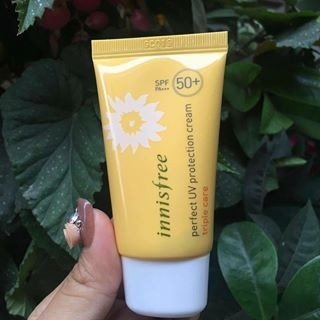 KEM CHỐNG NẮNG INNISFREE ECO SAFETY AQUA PERFECT SUN GEL SPF50+ LOAI MINI