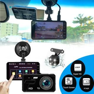 Camera Hành Trình Kép Trước Sau Dual Lens Dành Cho Ô Tô V10 Hỗ Trợ Full HD 1080P - Tích Hợp Màn Hình Cảm Ứng (Đen)