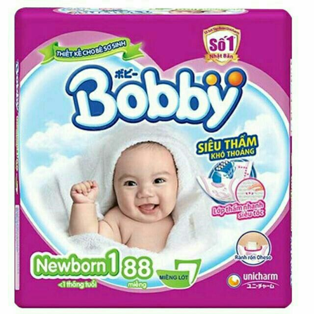 Miếng lót sơ sinh Bobby nb1 88 miếng