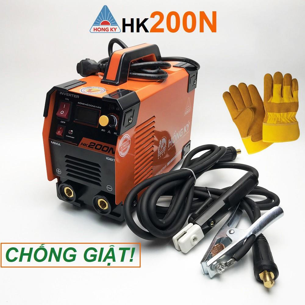[CHỐNG GIẬT] Máy hàn điện tử Hồng Ký 200N - hàn sắt, inox que 3.2 liên tục - bảo hành 12 tháng