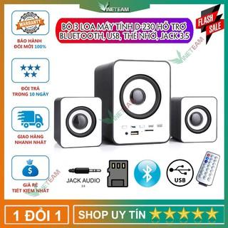 Bộ 3 Loa Máy Tính D-230 Hỗ Trợ Bluetooth, USB, thẻ nhớ, jack 3.5 -dc4032
