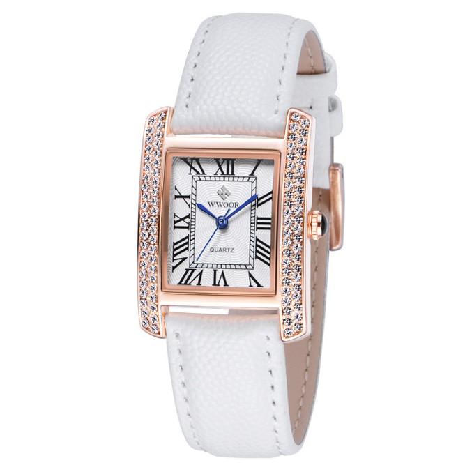 Đồng hồ nữ Wwoor Chính hãng dây da (kéo qua phải xem ảnh thật và clip)