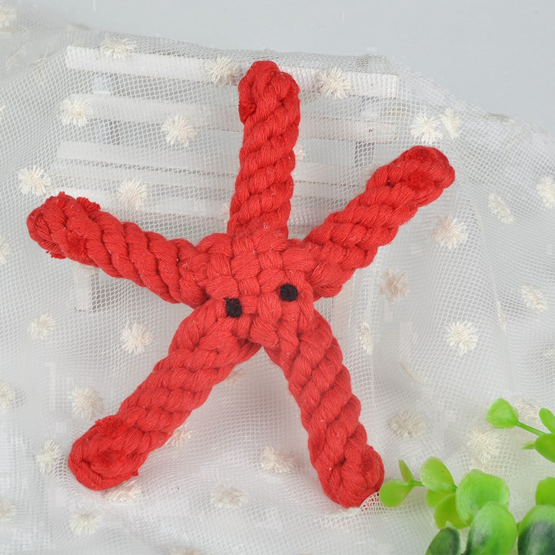 Hand Woven Starfish Molar Cute Chewing Toy