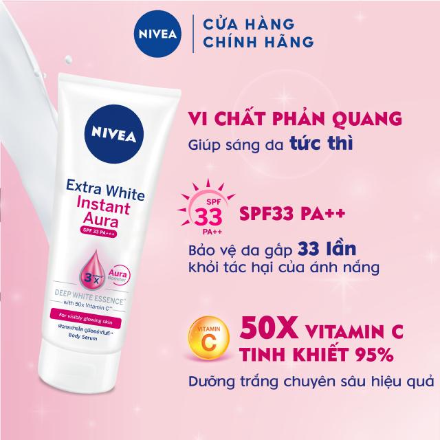 Tinh chất dưỡng thể giúp sáng da tức thì Nivea 180ml – 83234