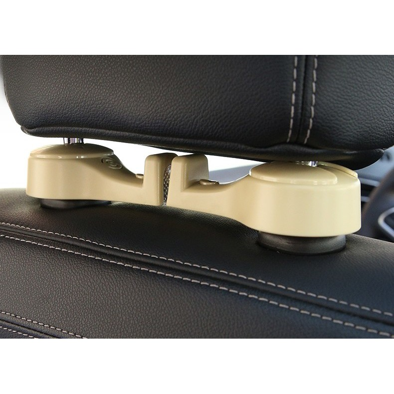 Móc treo đồ kiêm kẹp điện thoại ghế sau xe hơi