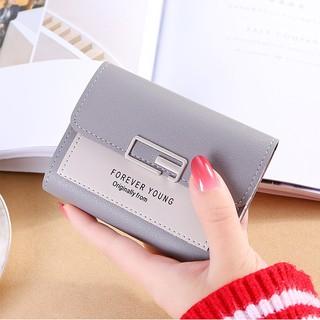 Hình ảnh Ví nữ thời trang ngắn cầm tay mini đẹp MADLEY cao cấp nhiều ngăn nhỏ gọn bỏ túi VD220-7