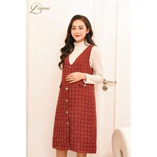 Váy bầu thu đông Jennie Dress - Dáng yếm suông phù hợp đi làm, đi tiệc thiết kế bởi LAMME thumbnail