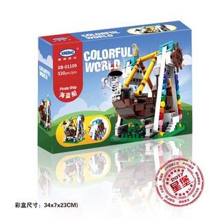 Ghép hình Lego XB tàu cướp biển 01109 (520 chi tiết)