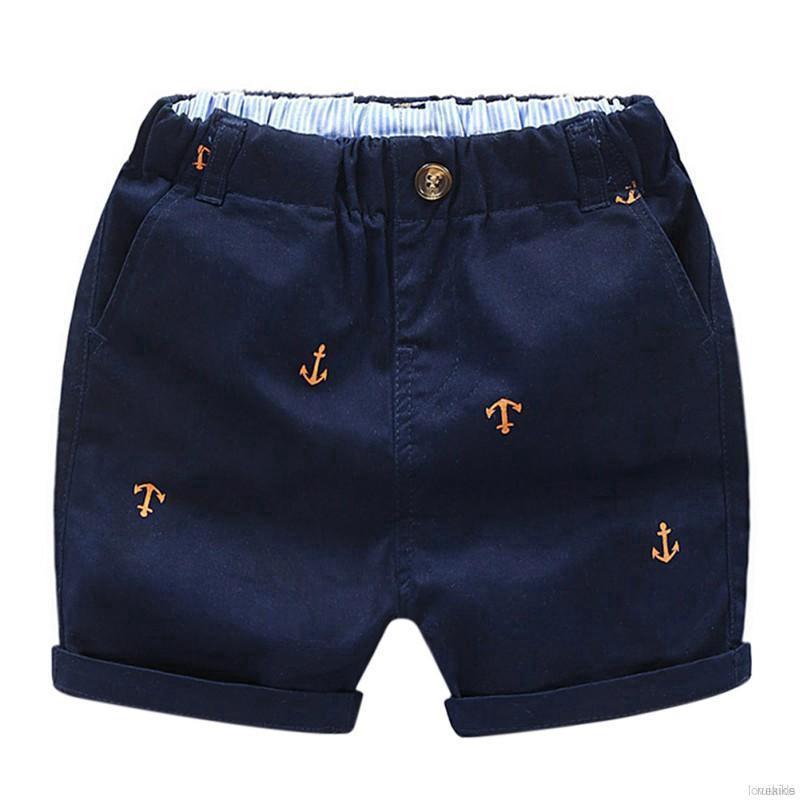 Quần Short Cotton Lưng Thun Có Túi Thời Trang Mùa Hè Cho Bé Trai