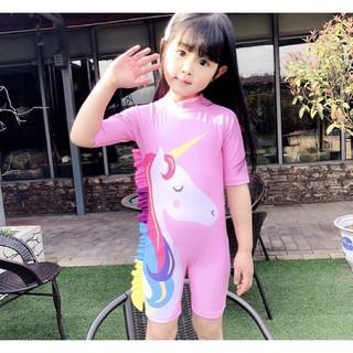 Bộ bơi Unicorn bé gái kèm nón.
