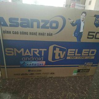 Ti vi smart asanzo 50 inch -kính cường lực