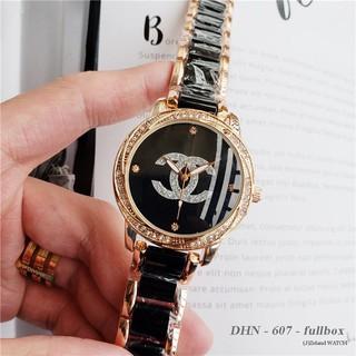 Đồng hồ nữ Chanel cao cấp mặt tròn 36mm dây kim loại gắn đá DHN607 Shop404