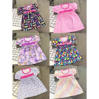 váy bé gái thun cotton vải hàng xuất, váy hè bé gái