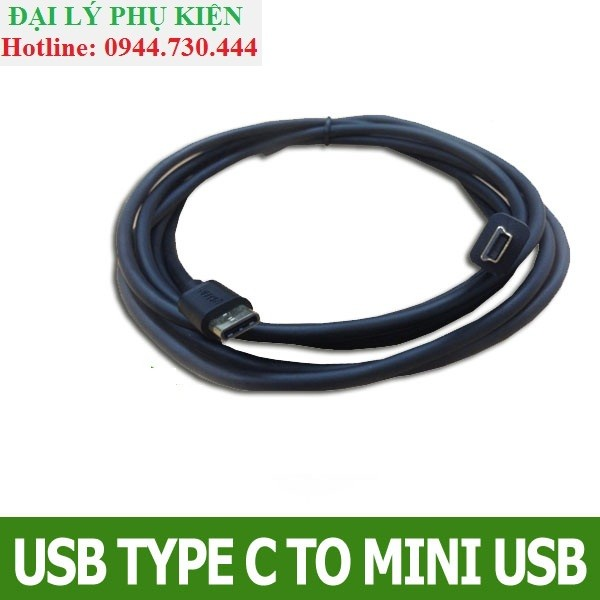 Cáp chuyển USB-C Sang mini USB 3m