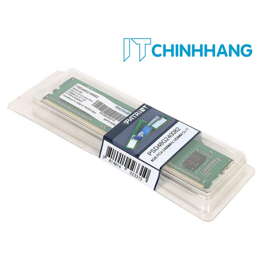 RAM PATRIOT DDR4 2400MHz 8GB PC Memory (PSD48G240082) - HÃNG PHÂN PHỐI CHÍNH THỨC