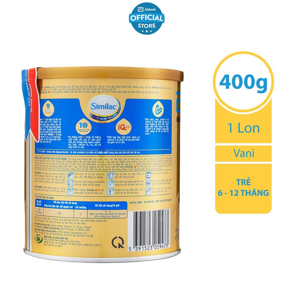 [ CHÍNH HÃNG ] Sữa bột Similac Eye-Q 2 400g HMO Gold Label