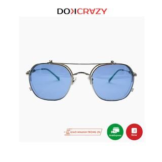 Kính mát nắp gập clip on cao cấp STATIC DOKCRAZY mắt râm đa tròng phong cách retro thời trang đường phố gọng cận UV400