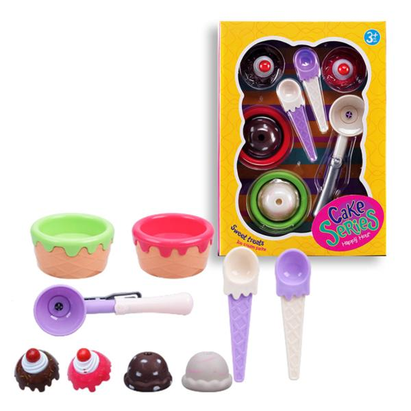 9PCS/Set Children Simulation Icecream Toys Kids Kitchen Educational Toy Play House Toys