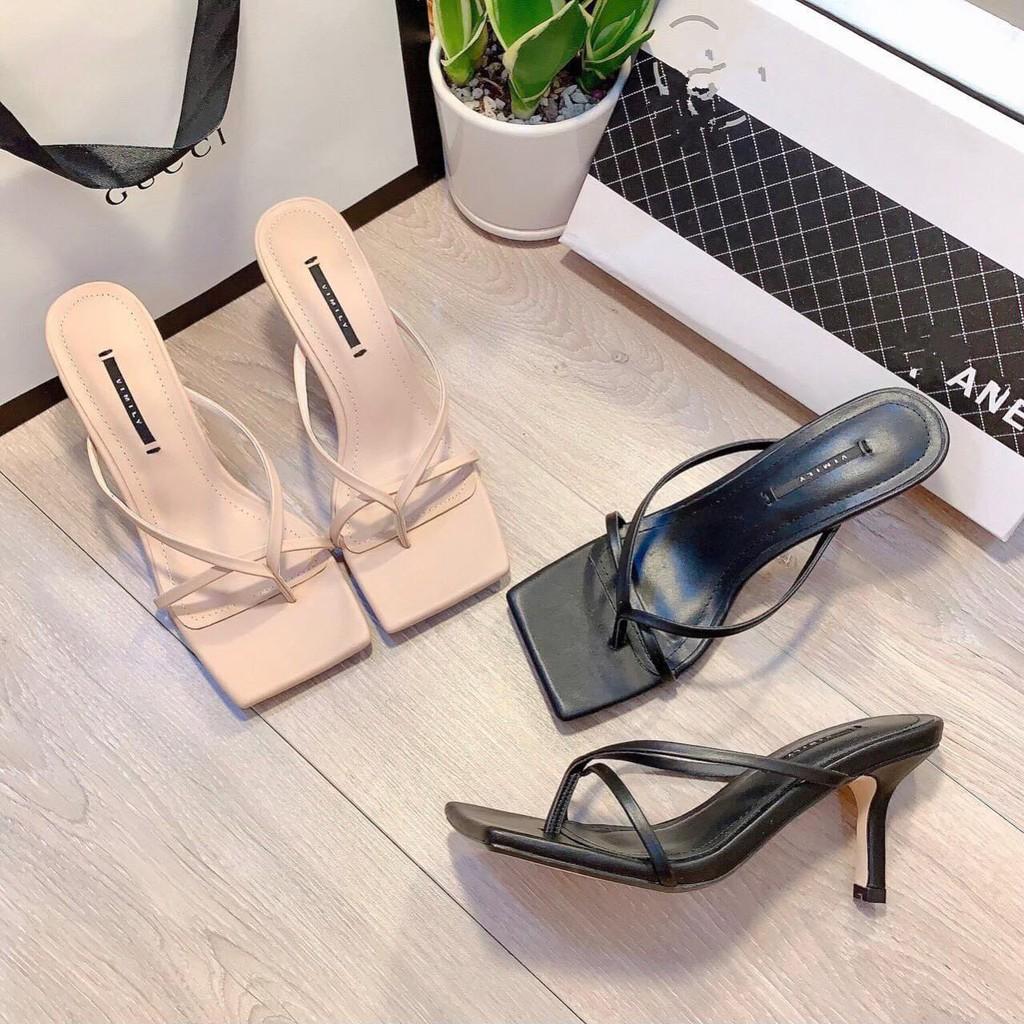 Guốc sandal sỏ ngón gót nhọn 7cm (hàng đẹp ) - g97