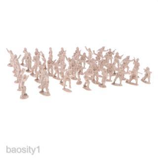 100 Pieces 2cm Plastic Toy Soldier Figurs Army Men Accessory Apricot