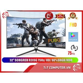32 inch – Màn Hình HuGon-SongRen 32 inch cong 1800r – tần số quét 75hz – newbox 100%