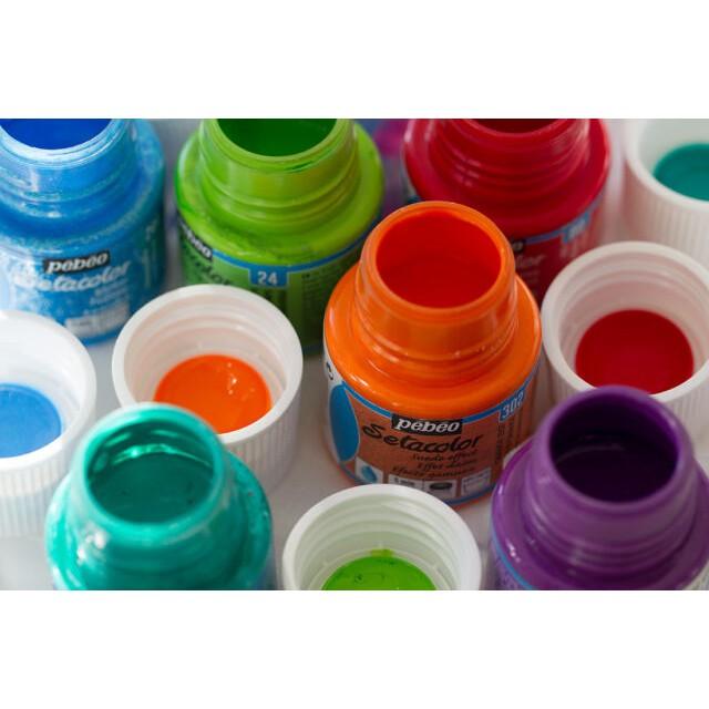 Hũ Lẻ màu Vẽ Vải Pebeo Setacolor Opaco 45ml (nhắn tin cho shop chọn màu)