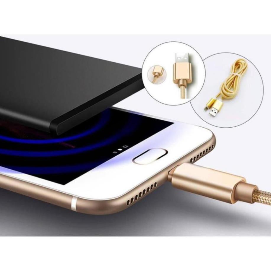 Cáp Sạc - Dây Sạc Samsung / Iphone Dây Dù Chống Rối Chống Đứt Hàng Đẹp 1M