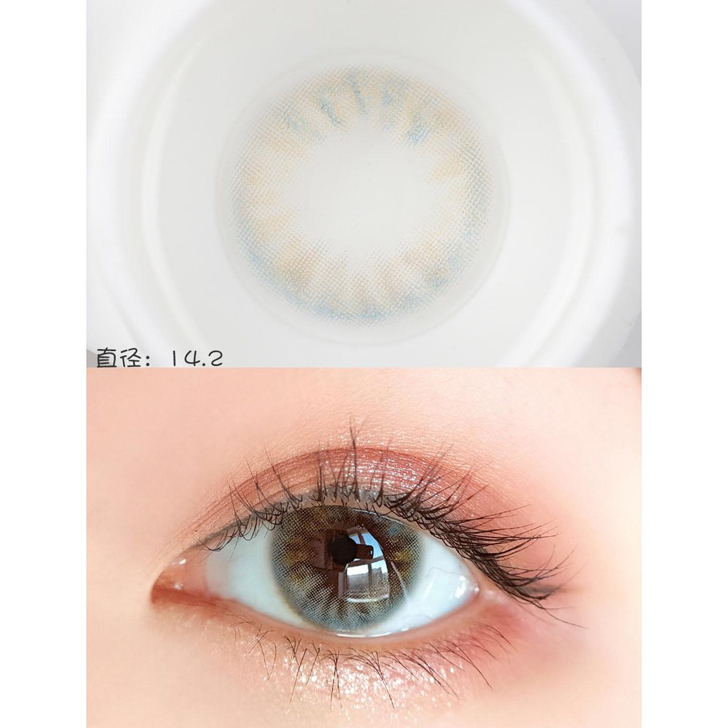 (1pair)(20.Feb.27)MC Series,Bola Brand,14.2mm,Silicone Hydrogel,Contact Lens yearly use(blue)