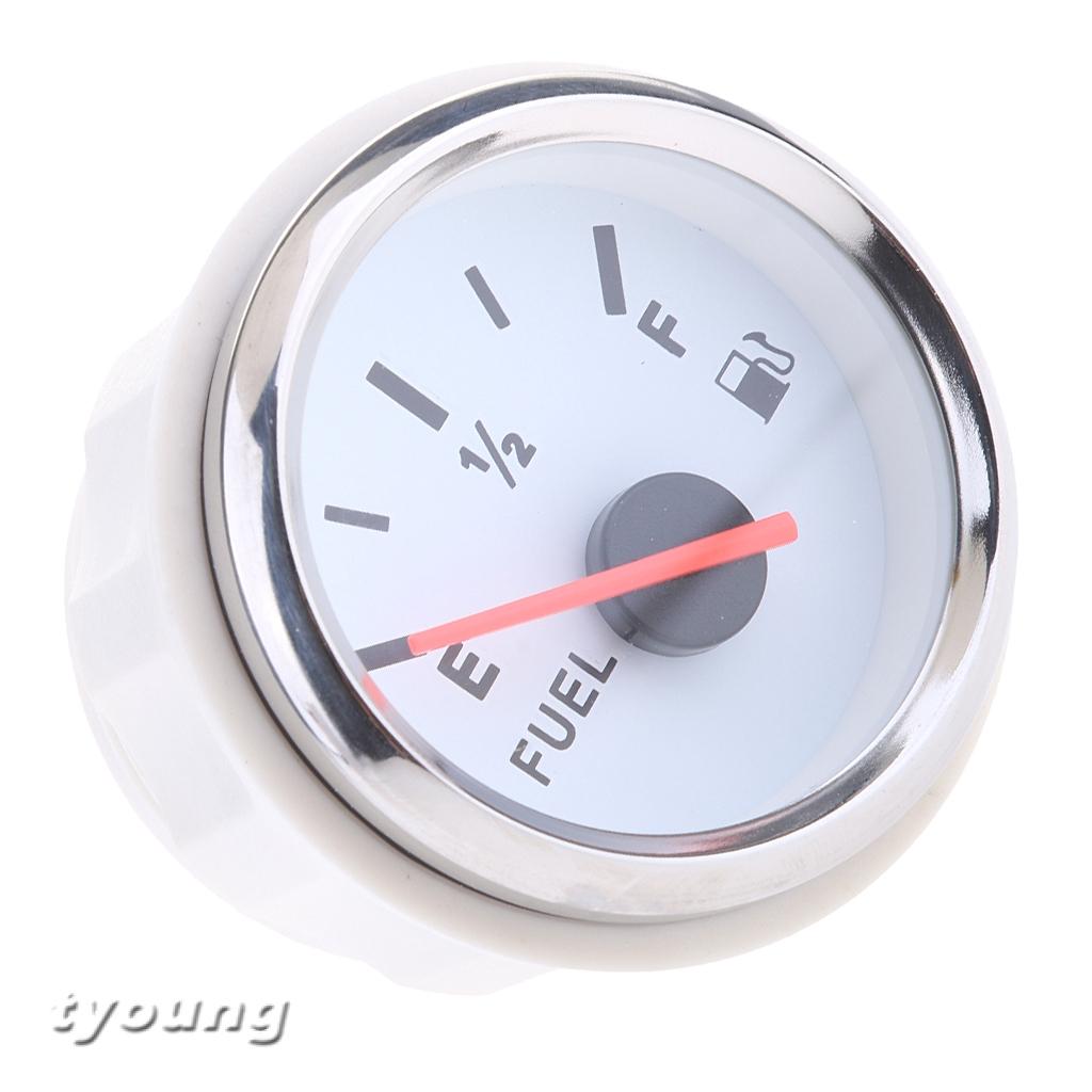 2 Inch LED Display Car Boat Pointer Fuel Level Gauge Meter E-1/2-F