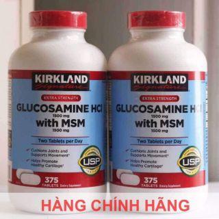 Viên uống glucosamine HCl 1500mg with MSM 1500mg 375 viên