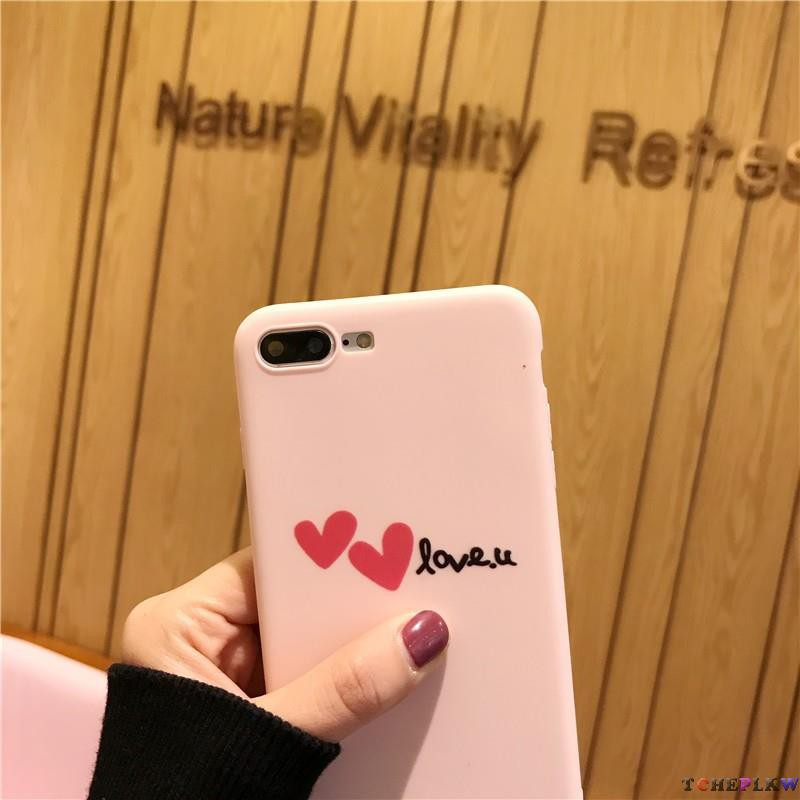 IPhone 5 5S 6 6S 7 8 Plus soft plastic phone case with heart shape